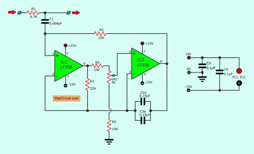 small resolution of figure2 hum filter circuit using the electronic coil