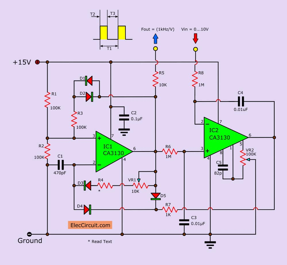 hight resolution of voltage to frequency converter circuit using ca3130 temperature to frequency converter circuit diagram frequency converter circuit diagram