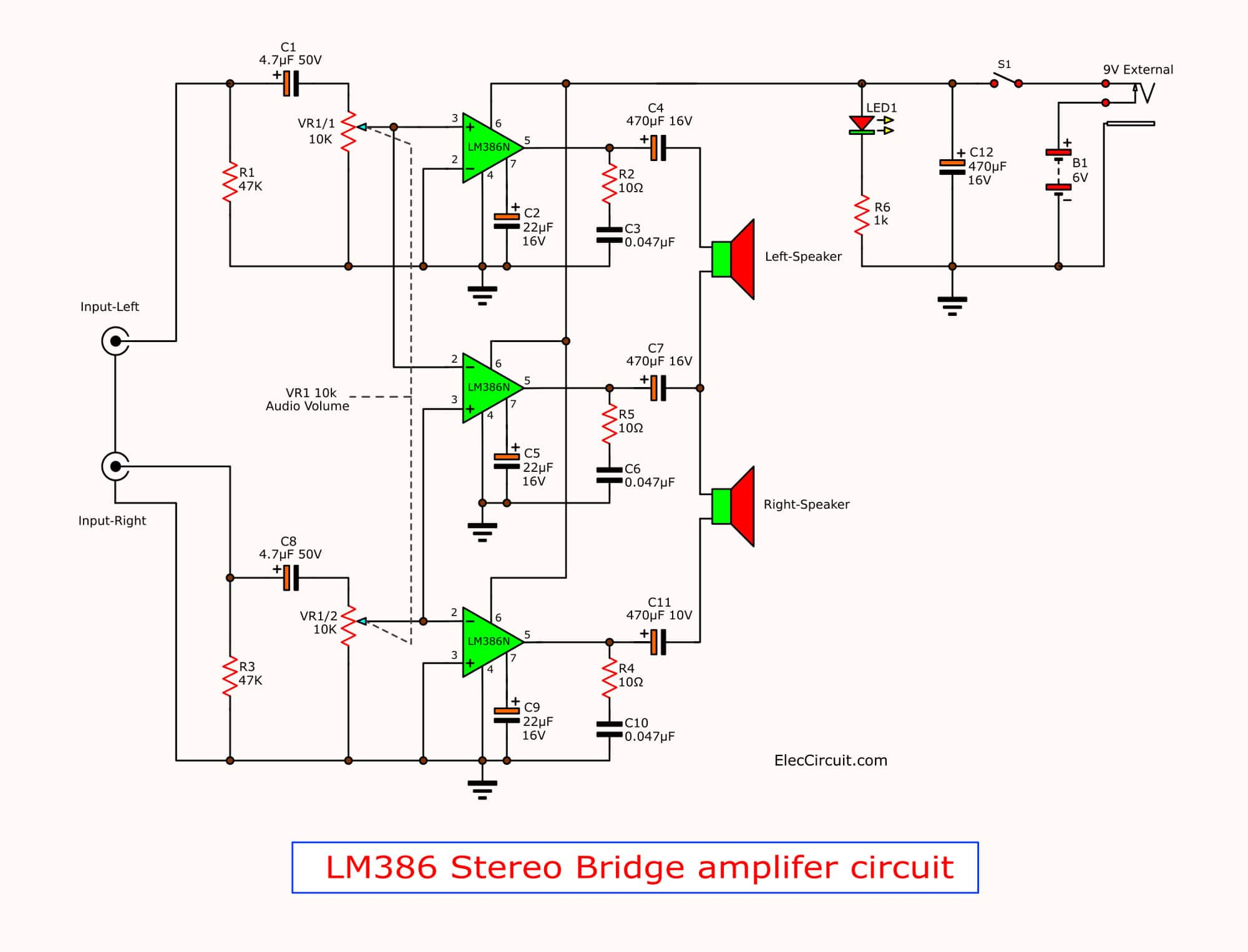 hight resolution of lm386 amplifier stereo 2 watts tda2050 amplifier circuit diagrams