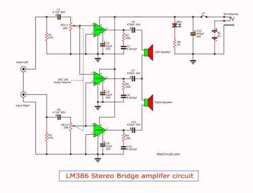 small resolution of lm386 amplifier stereo 2 watts tda2050 amplifier circuit diagrams