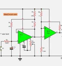simple long duration timer eleccircuit com long interval rc timer using opamp simple circuit diagram [ 1200 x 840 Pixel ]