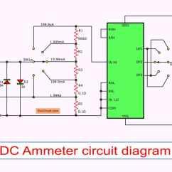 Digital Ac Ammeter Circuit Diagram 2002 Chevy Blazer Wiring Radio Multimeter Using Icl7107