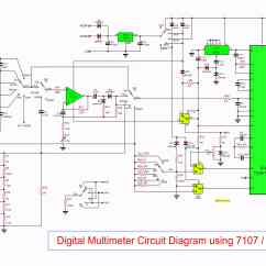 Digital Electric Meter Wiring Diagram 1997 Ford F 150 Starter Multimeter Circuit Using Icl7107
