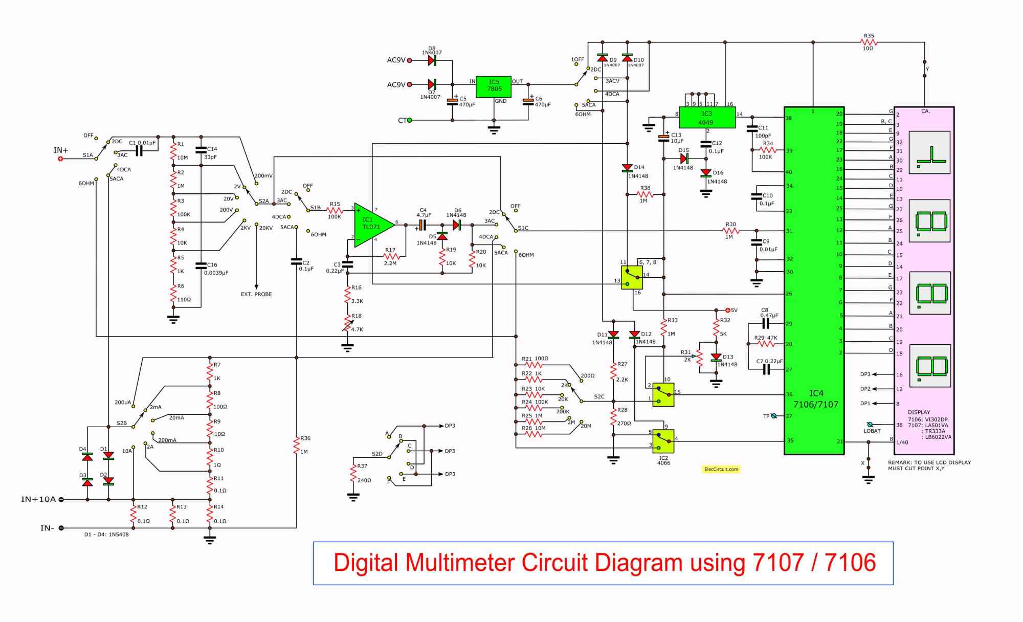 hight resolution of led wiring diagram of voltmeter wiring library overhead console wiring diagram figure 7 the full circuit