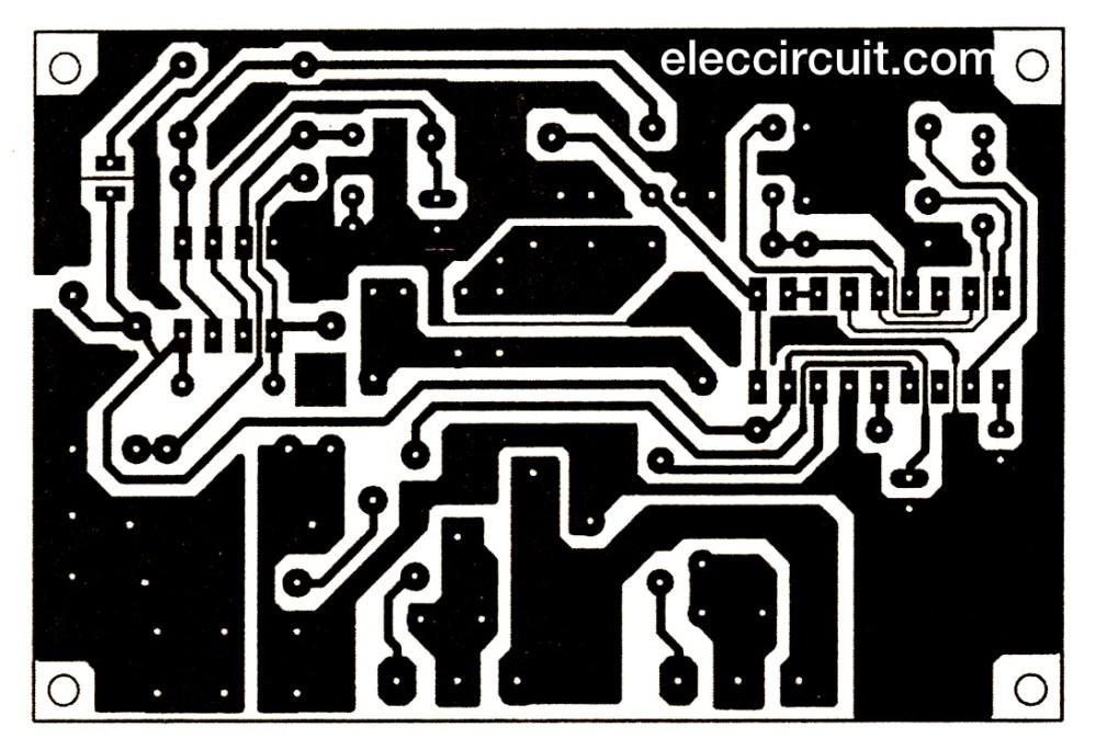 medium resolution of pcb layout of 200 watts inverter