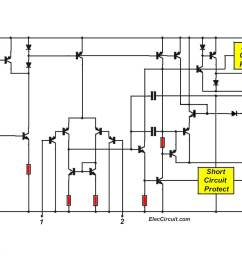 tda2050 amplifier circuit diagram [ 1200 x 787 Pixel ]