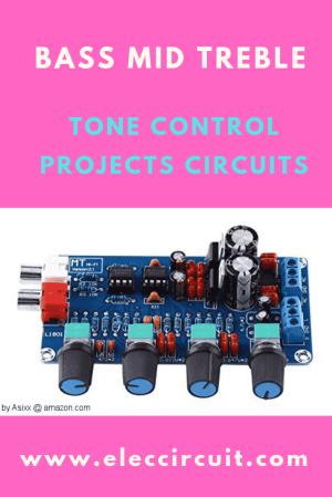 Classic active tone control circuit using ICs ElecCircuit