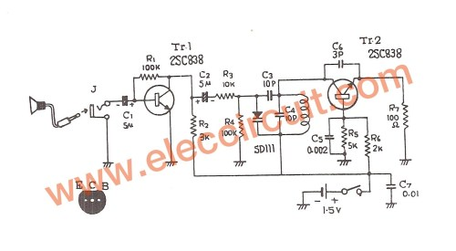 small resolution of figure 1 fm transmitter schematic transistor wiring diagram today 1 5v fm transmitter circuit 88