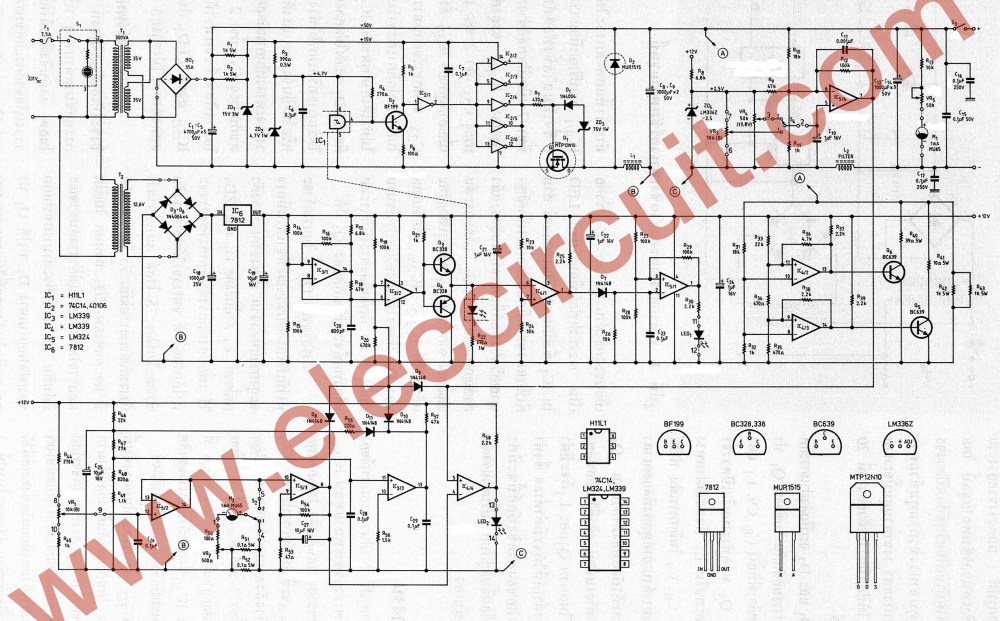 medium resolution of the full circuit diagram of 0 45v 8a switching power supply