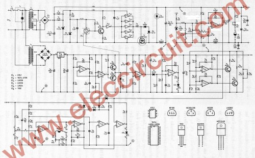 small resolution of the full circuit diagram of 0 45v 8a switching power supply