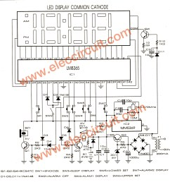 lm8365 digital clock circuit board eleccircuit com digital clock electronic schematic diagram [ 2032 x 2052 Pixel ]