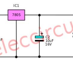 12v Dc To 9v Converter Circuit Diagram 1989 Ford Ranger Fuse Box Many Fixed Regulator Circuits 5v,6v,9v,10v,12v 1a Using Ic-78xx Series   Eleccircuit.com