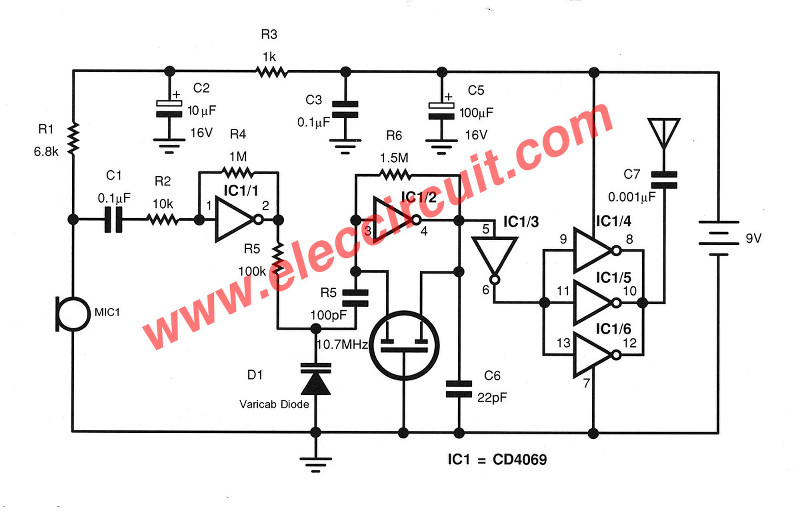 wireless fm transmitter circuit