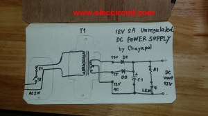 Simple 12V 2A Power supply circuit  ElecCircuit