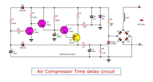 Scr Time Delay Circuit Diagram Tradeoficcom