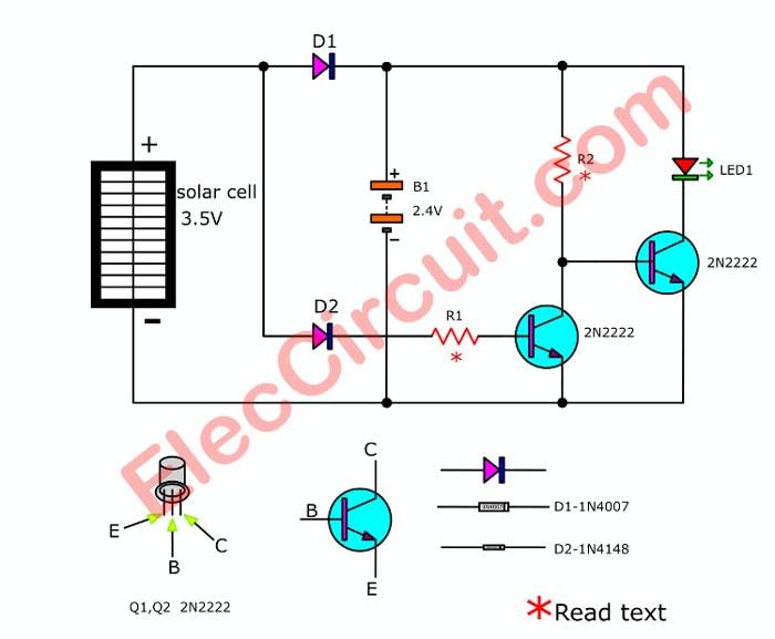 12 volt wiring diagram for garden lights simple generator solar light schematics - wire center