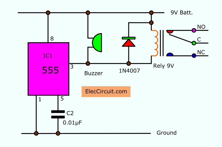 Egg Timer Circuits By Ic555