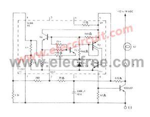 Analog LED VU meter circuit using transistors