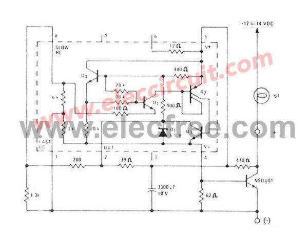 brake light flasher circuit