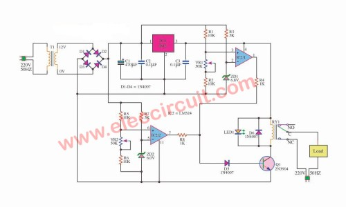 small resolution of over under voltage protection circuit eleccircuit com window detector circuit diagram for under over voltage detection