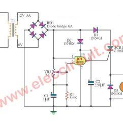 Ac Motor Speed Controller Circuit Diagram 2006 Chrysler Sebring Fuse Box Scr Dc Control Using Ic-cmos