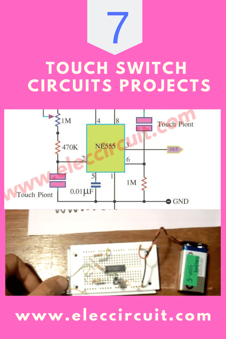 hight resolution of 7 simple touch switch circuit projects eleccircuit com make a simple touch switch circuit diagram we