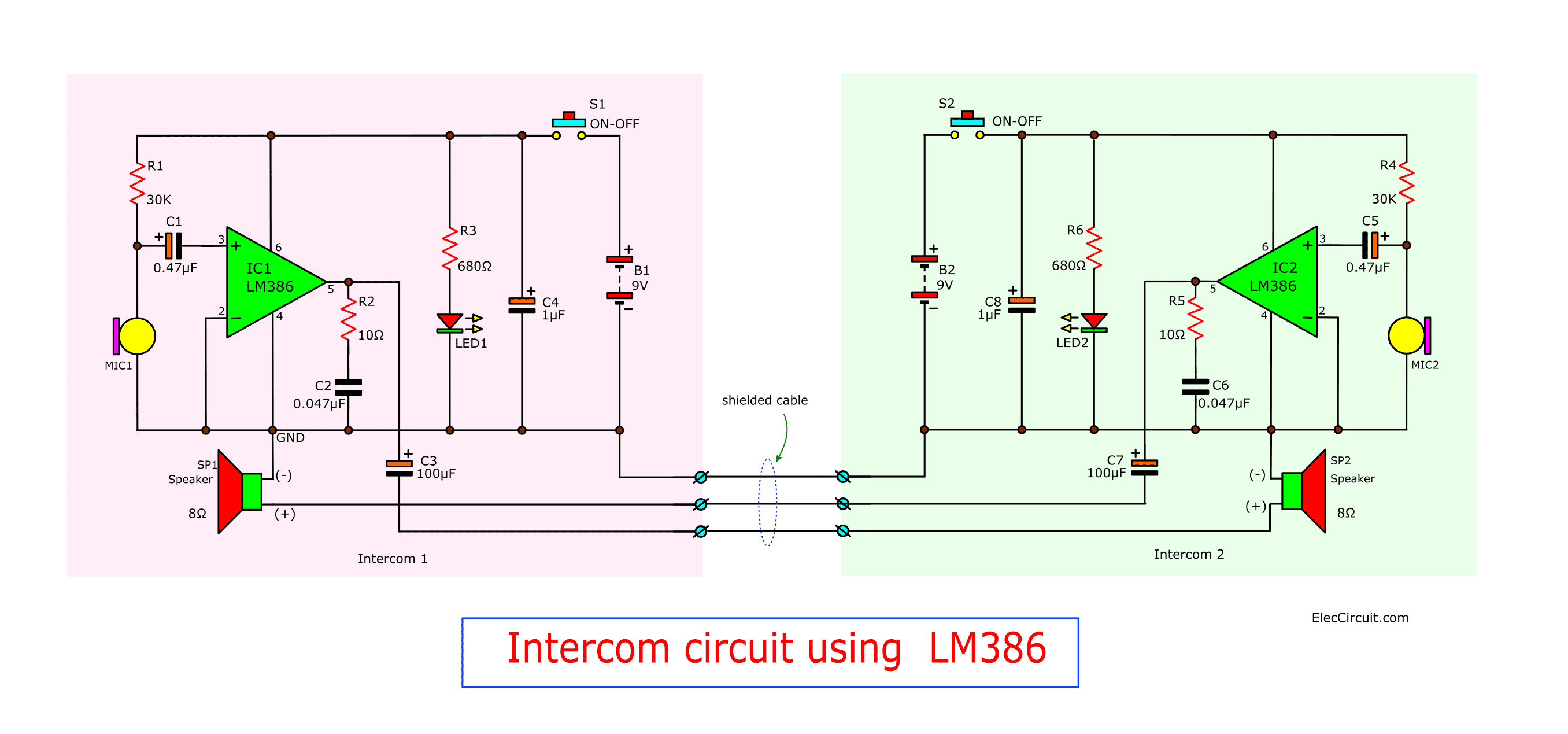Is Connected To The Microphone And Turn On The Circuitthe Circuit