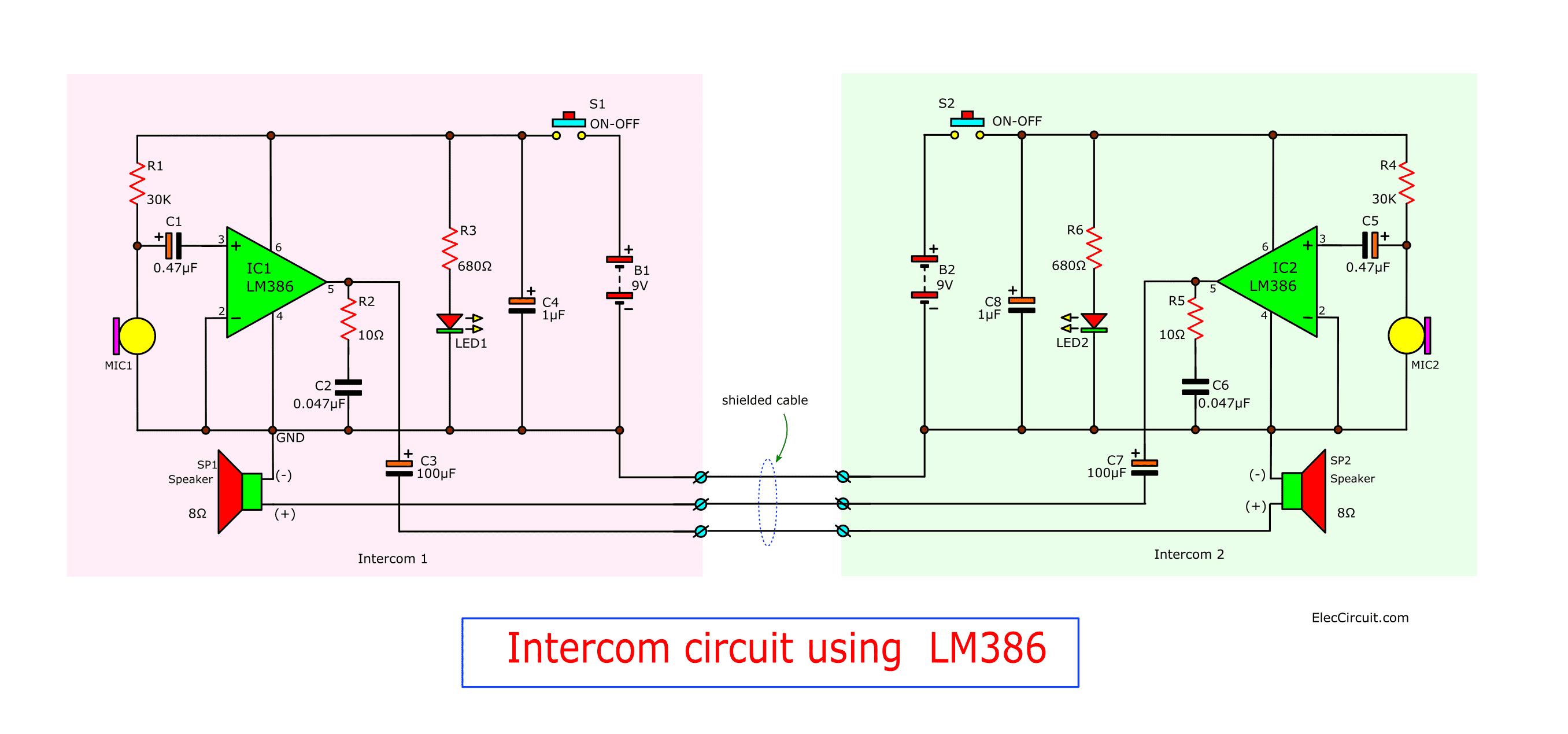 Xcom Intercom Circuit Diagram