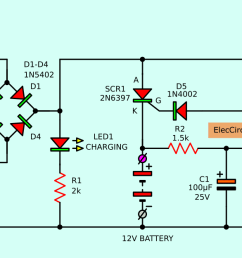 simple 12 volt gel cell charger circuit diagram data wiring 12v gelled electrolyte battery charger circuit schematic [ 1509 x 625 Pixel ]