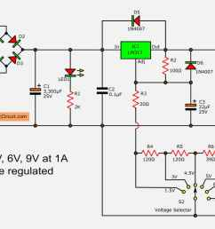 lm317 voltage selector power supply 1 5v 3v 4 5v 5v 6v 9v 3a switching power supply regulator circuit diagram [ 1500 x 731 Pixel ]
