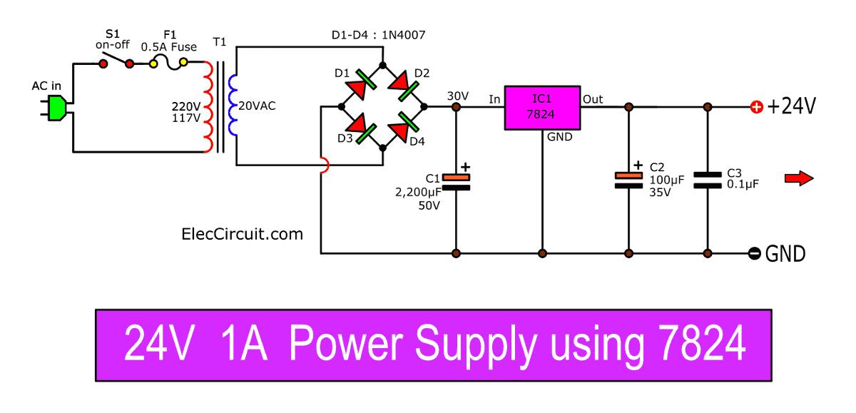 Volt Regulator Using Dioda Zener Simple Schematic Diagram