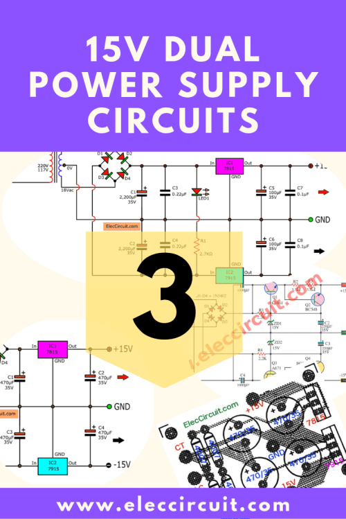 small resolution of 15v dual power supply circuit projects