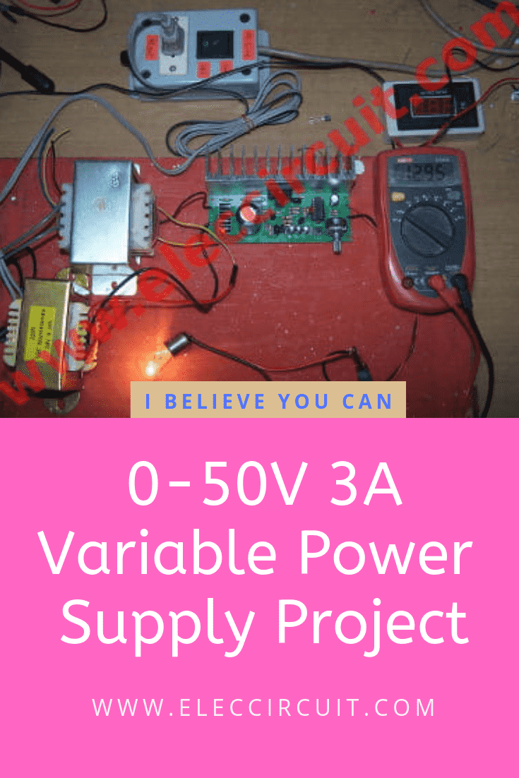 hight resolution of variable power supply 0 50v 3a