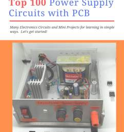 100 power supply circuit diagram with pcb eleccircuit com 12 volt power supply electronic projects circuits diagram [ 735 x 1102 Pixel ]