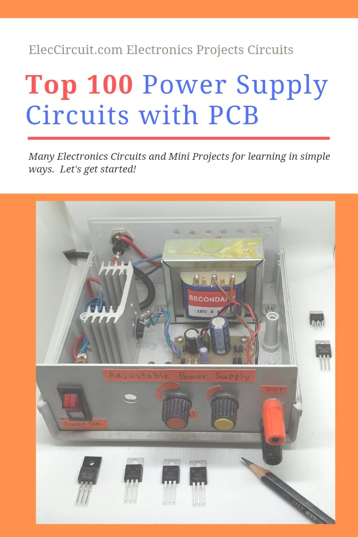 medium resolution of 100 power supply circuit diagram with pcb eleccircuit com 12 volt power supply electronic projects circuits diagram
