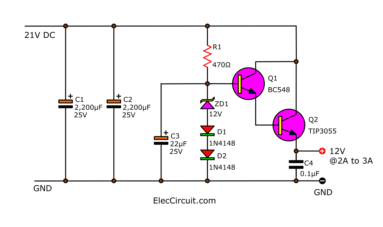 Many ideas of 12V and 5V Dual Power Supply Circuit Diagram