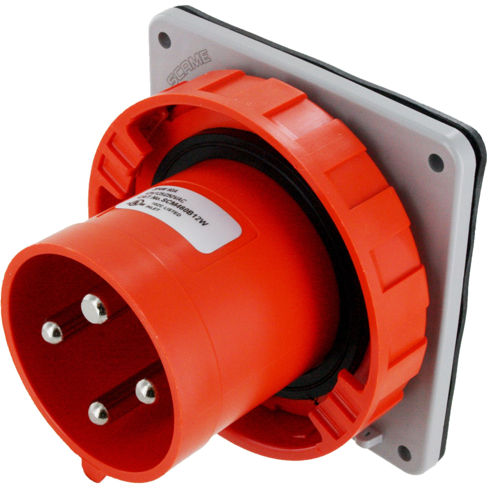 hight resolution of 460b12w pin and sleeve inlet 60 amp 3 pole 4 wire iec 60309