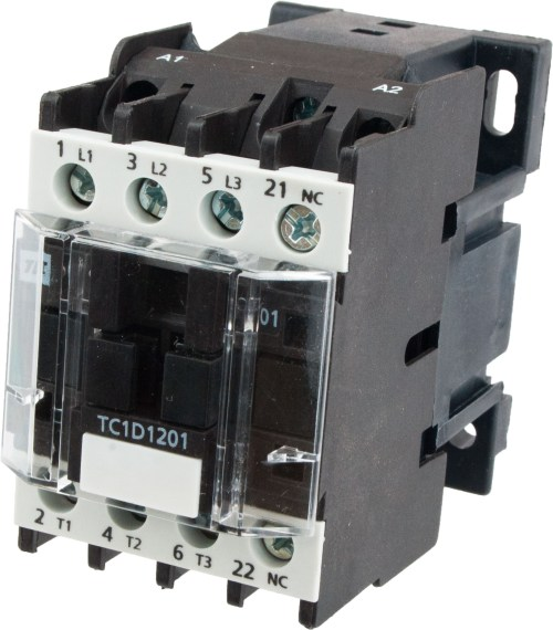 small resolution of 3 pole contactor 12 amp 220 vac coil tc1d1201m7