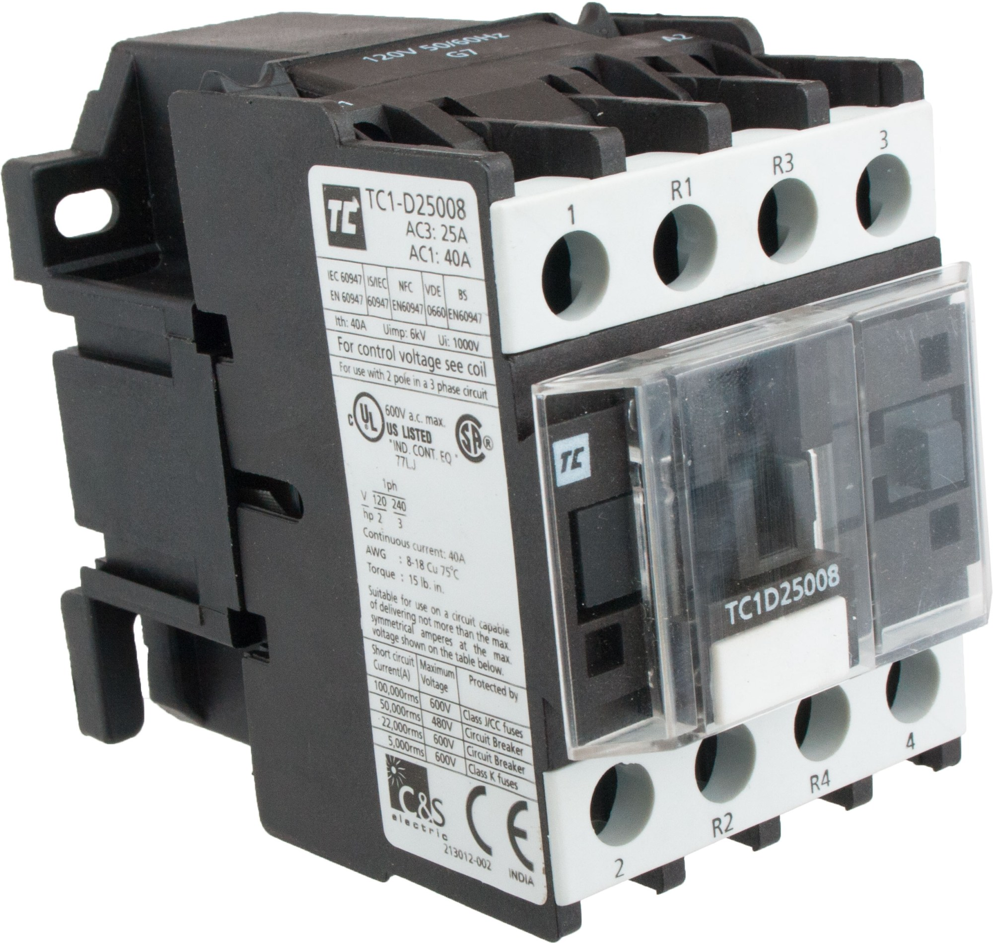 hight resolution of 4 pole contactor 25 amp 2 n o 2 n c 120 volt