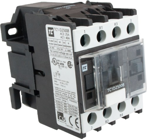 small resolution of 4 pole contactor 25 amp 2 n o 2 n c 120 volt