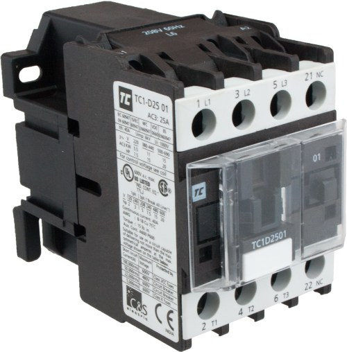 small resolution of 3 pole contactor 25 amp 440 volt ac coil tc1d2501r7 elecdirect single phase motor reversing contactor wiring 220 3 phase contactor wiring