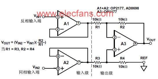 帶輸入緩沖的減法器電路 - 運算放大器電路 - 電子發燒友網