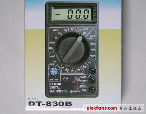 數字萬用表教學套件/散件_DT830B_教學實驗電子套件 - 測量儀表 - 電子發燒友網