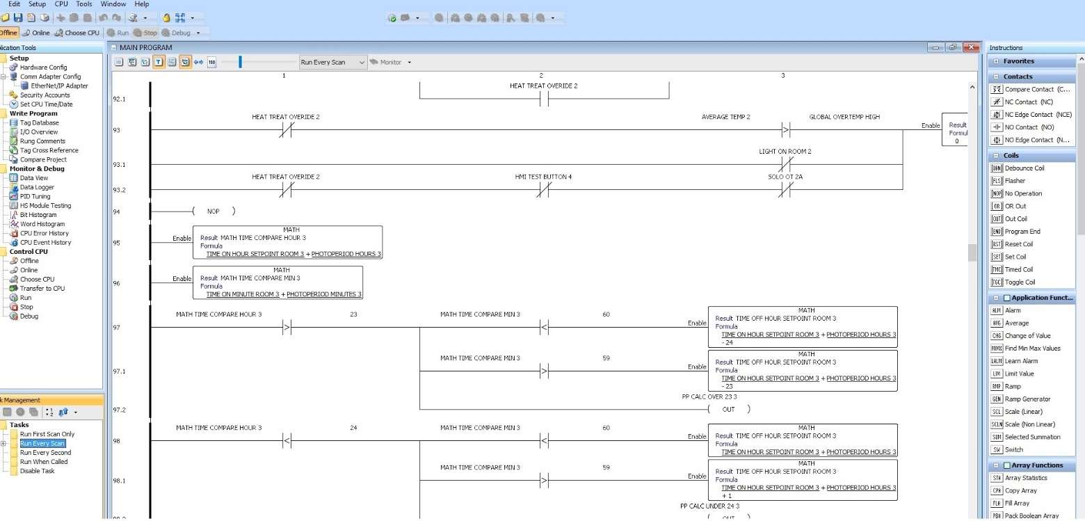 hight resolution of ladder logic productivity suite