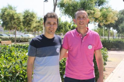 Los creadores del Cant a Estivella, el cronista Lluís Mesa y el compositor Josep Miquel Martínez