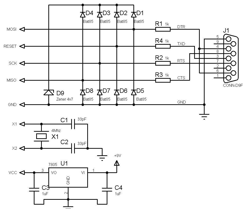 Make your own, ultra simple, universal AVR programmer