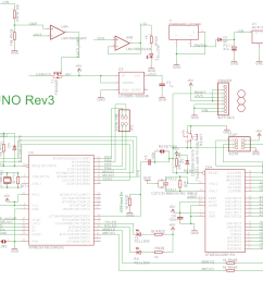introduction to arduino uno uses avr atmega328 arduino uno r3 schematic arduino uno r3 wiring diagram [ 2770 x 1558 Pixel ]