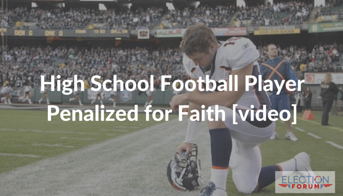High School Football Player Penalized for Faith [video]