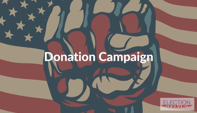 Election Forum Donation Campaign