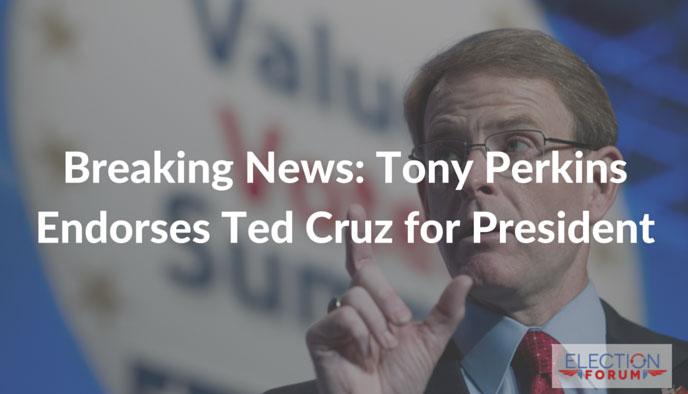 Breaking News: Tony Perkins Endorses Ted Cruz for President